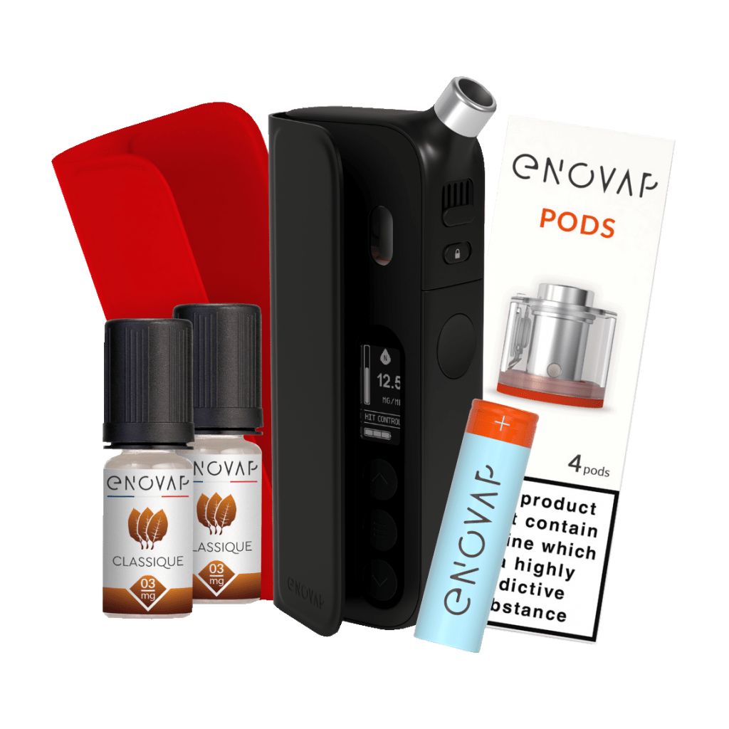 Enovap pack cigarette électronique connectée Black edition shop