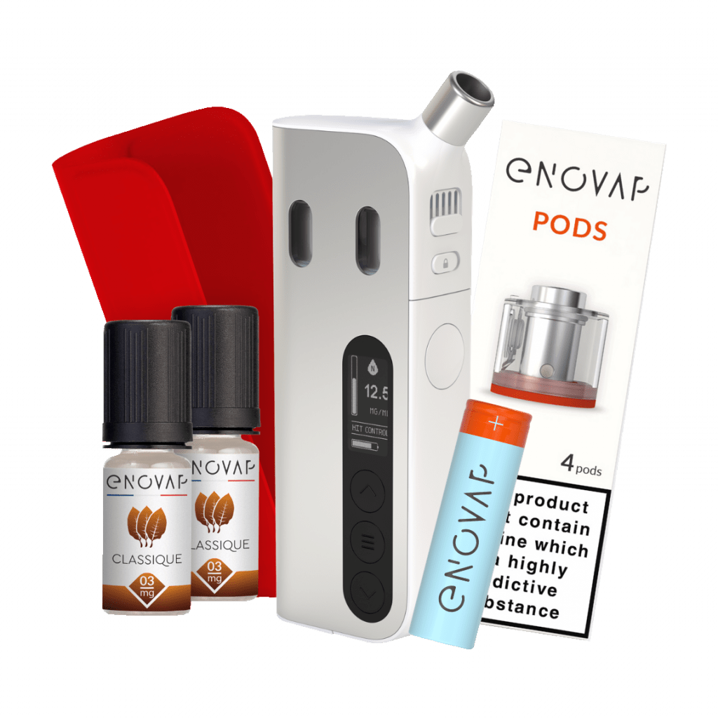 Enovap pack cigarette électronique connectée Silver edition shop